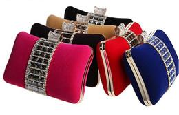 Wholesale Designer Evening Bag Clutch Ring - New Designer Wedding Bridal Women Crystal Ring Shoulder Stain Metal Evening Clutch Bag Hard Box Purse Makeup Kit Handbags