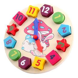 Nuovi giocattoli educativi per bambini Blocchi di legno giocattoli Digital Geometry Clock Baby Boy Girl regalo mattoni blocchi da
