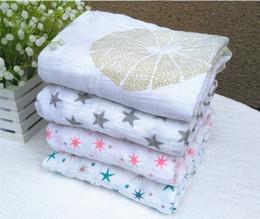 Аденное пеленание одеяла онлайн-Весеннее лето 120 * 120 см 180 г Муслин Одеяло Аден Anais Baby Swaddle Wrap Одеяло Одеяло Полотенце Baby Baby Baby Blanket K6199