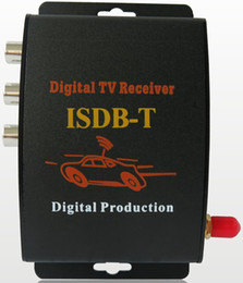 Wholesale Isdb Car Tv - Ouchuangbo Car ISDB-T box TV receiver x One Seg With Remote Control work in Brazil peru Chile