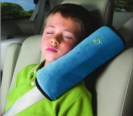 Wholesale Child Safety Car Front Seat - Free shipping 1pcs Baby Car Auto Safety Seat Belt Harness Shoulder Pad Cover Children Protection Covers Cushion Support Pillow