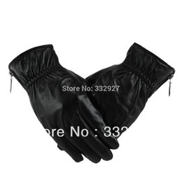Wholesale Sheep Skin Leather Gloves - Wholesale-men winter sheep skin leather gloves warm gloves 011A