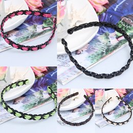 Wholesale Clip Charms China - Fashion Women Weave Hair Clasps Charming Jewelry Lady Girl Boutique Hair Sticks Headbands Graceful Barrettes Hair Accessories GSJ*10