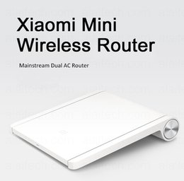 Wholesale Dual Band Routers - Original brand mi Xiaomi router black wifi router 802.11ac wireless MT7620A 128MB 2.4G 5G dual band ac antenna smart mini router