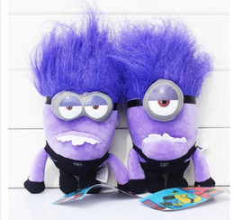 Wholesale Despicable Minion Plush 3d - Despicable Me 2 Purple Evil Minions 30cm Minions plush toy Stuffed Animal 3D Plush Doll
