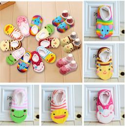 Wholesale Free Baby Booties - Infant baby cartoon pattern stockings boat shape Non-slip socks cotton baby booties socks Anti-skid socks free shipping