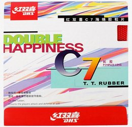 Wholesale Long Pimples Rubber - DHS table tennis ball C7 Long Pips-Out Rubber Double happiness LONG PIMPLES pipong rubber