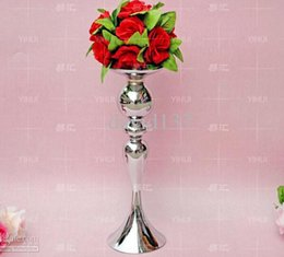 Wholesale Wholesale Vases Candle Holders - Wholesale -no flower including , Free Shipping Vintage Flower Vase Table 123 Centerpiece 39cm Tall  mental123 Candle Holder