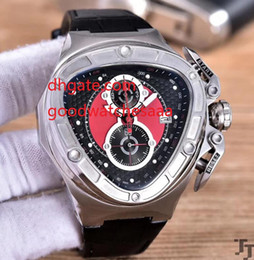 Wholesale Triangle Men Watches - Top Luxury Chronograph Triangle Watch Men Dial Lamborghini Anniversary VK Quartz Chronograph Working 18k Rose Gold Bands Watches hot sale