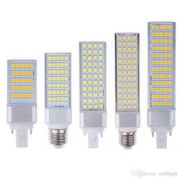 Wholesale 15w Led Chip - Retail High quality ultra bright E27 E14 G24 110V-240V SMD 5050 chip 180 beam angle led corn light led lamp Free Shipping