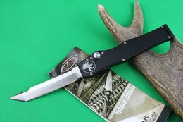 Wholesale New Tanto Knife - Special offers MICRO 150-10AP Custom HALO V T E satin Plain knife Single Edge Tanto point blade Tactical knife new in original bo