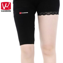 Wholesale Thigh For Men - Wholesale- CAMEWIN 1 Pair Knee Pads Breathable Elasticity Knee Protector for Cycling Basketball Badminton Running Thigh Supports 1 Pair=2PC