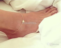 Wholesale Dangle Ankle Bracelets - Wholesale-2015 Barefoot Sandals Time-limited Limited Trendy Women Rhinestone Zinc Heart Ankle Bracelet Anklets For Dangling Shoe Chain Set