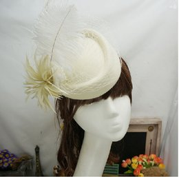 Wholesale Black Ivory Fascinator - Free Shipping Ivory Red Black Vintage Multi Color Perfect Birdcage Headpiece Head Veil Wedding Bridal Accessories 2015 Bride Hat S-113