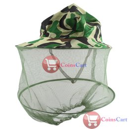 Wholesale Coin Cart - Wholesale-[Coins Cart] Camouflage Field Jungle Mesh Face Mask Cap Mosquito Bee Bug Insect Fishing Hat wholesale