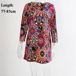 Wholesale Wholesale Clothing For Plus Sizes - Wholesale- Plus Size Winter Autumn Casual Dress Women Long Sleeve Retro Floral Print Dress for Women Clothes Vestidos Party Vintage Dress
