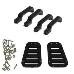 Wholesale Car Door Handle Parts - RC Car Intake Grille Cover and Plastic Door Handle for 1:10 RC Crawler Traxxas TRX-4 TRX4 Body Parts