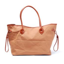 Wholesale Material Shopping Bags - ROYALBLANKS Large Women Shopping Bag Canvas Material Tote Bag Fashion Handbag with PU Handle