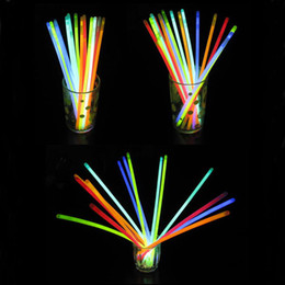 Wholesale Kids Led Flashing Necklaces - LED Light Sticks 7.8 Inch Glow Sticks Bracelets Necklaces Neon Party LED Flashing Light Wand Novelty Toy Vocal Concert Flash Stick 0037CHR