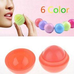 Wholesale Smooth Lip Balm - New Styles 6Color New Round ball Smooth lip balm Fruit Flavor Lip Care smackers Organic Natural Lip Balm Makeup set