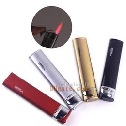 Wholesale Slim Lighters - Slim Hot Pink Windproof Lighter Strong Wind-resistant Cigar Cigarette Butane Gas Lighter