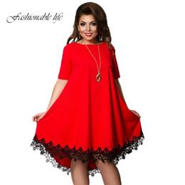 Wholesale Wholesale Apparel Short Sleeve Dresses - Wholesale- Summer Women Lace Dress Short Sleeve Female Dresses Fashion Vestido Costume Apparel L-6XL