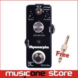 Wholesale Music Pedals - Eno DR-1S Music EX Micro Myomorpha Rat Distortion Guitar Effect Pedal Vintage  Turbo Modes Compact Small Size True bypass Brand New MU0129