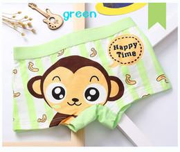Wholesale blue monkey cartoons - Free shipping boy cotton baby monkeys banana boy's boxer shorts cartoon children's underwear