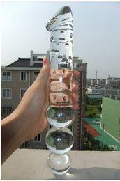 Wholesale Huge Glass Toys - 30cm*4.5cm Super long Huge Crystal Glass Dildo Big Anal Plug,female Masturbation,long glass penis,Gay sex Toys,sexy shop