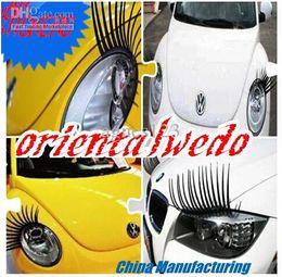 Wholesale Panda Car Sticker - NEW Fashion car stickers Wholesale retail reflective affixed to light eyebrows stickers Universal top sale panda fashion Eyelashes Sticker