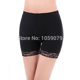 Wholesale Black Bermuda Shorts - Casual Women's Comfy Modal Bike Shorts Leggings Bermuda Lace Flower Trim Security shorts Safety Short Pants Intimates ny15
