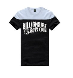 Wholesale Pink Dolphin T Shirts - Pink dolphin Mens BILLIONAIRE BOYS CLUB T-Shirts Letter BBC T Shirt Hip Hop Roll T Shirt bbc billionaire boys club T-shirts
