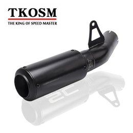 Wholesale catalytic converters - TKOSM Universal Motorcycle Modified Black 61MM Exhaust Pipe + Middle pipe For S1000RR 2010-2014 S1000R 2014-2016 Exhaust