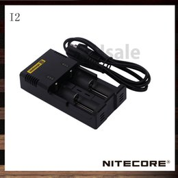 Wholesale Ecigarette Chargers - Nitecore I2 Li-ion Battery Charger I2 LCD Digital Display Charger for 26650 22650 18650 18350 14500 Battery Ecigarette Battery 100% Original