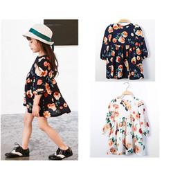 2019 vestidos geométricos del boutique Vestido de manga larga de gasa estampada flor de 2016 primavera y verano