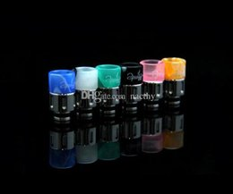 Wholesale E Cig Steel - Newest SS 510 Drip Tips Stainless Steel with Acrylic Wide Bore Drip Tip 510 EGO Atomizer Mouthpieces for CE4 Protank E Cig Tanks
