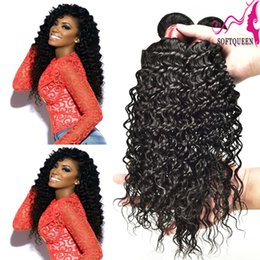 Wholesale Human Hair Weave Brands - Brand New! Virgin Indian Peruvian Brazilian Malaysian Deep Wave Hair 7a Curly Hair Extentions Unprocessed Human Hair Weaves 4pcs lot