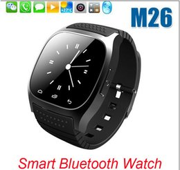 Wholesale Women Watches Korean - NEW Bluetooth Smart Watches M26 Watch for iPhone 6 4 4S 5 5S Samsung S5 S4 Note 3 HTC Android Phone for men women factory price