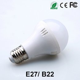 Wholesale Downlight Base - Free Shipping Factory SALE!! Super Bright LED light bulbs 220V 110V Globe Lights E27 B22 Base Lighting Lamp LED Spotlight Downlight CE RoHS