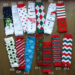 Wholesale Striped Baby Leggings - PrettyBaby Christmas arm warmers baby leg arm warmers cotton christmas warmers girl knee pad leggings leg warmers striped olaf snowflakes