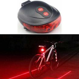 Wholesale Red Laser Safety - Bicycle Bike Laser Light Cycling Safety Led Lamp Bike Lamp Bicycle Bike Rear Tail Light (2 Laser + 5 LED)(Blue Red)