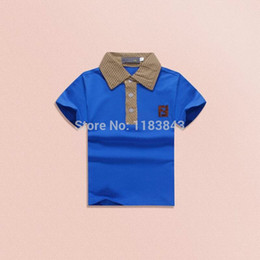 Wholesale Wholesale Childrens Shirts Free Shipping - Wholesale-Free shipping 2015 new arrival boys t-shirts t shirt for baby boy tops childrens kids&baby clothes