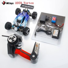 Wholesale Wltoys Rc Buggy - High Quality Wltoys A959 Vortex 1 18 2.4G 4WD Electric RC Car Off-Road Buggy RTR Blue RC toys Super Power Ready to Run 14005710