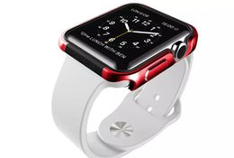 Wholesale Iwatch For Sale - Decorate Accessories Metal Ultra-thin Fashion Protective Cover Case for iWatch Apple Watch 38mm 42mm With Retail Package On Sale