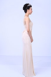 Wholesale Custom Tailored Cocktail Dress - Free shipping 2015 classic dress 2015 summer shoulder beaded gauze free tailor-made color Chaozhou evening dress cocktail dresses prom dress