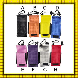 Wholesale Ecig Pouches - Colorful ecig carry pouch bag PU Leather Carring pouch eGo Box Case Pouch with Hook Vape Sox for Mechanical Mod 49