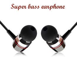 Wholesale Black Apple Computer - Noise Cancelling Real Super Bass Clear Voice Earphone Metal-ear Headphones Mobile Computer Mp3 Universal 3.5mm Headphone Amazing Sound