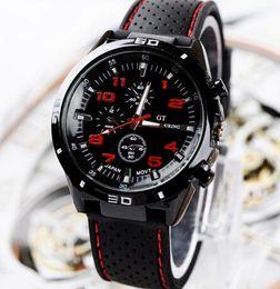 Wholesale Dropship Dresses - 2015 new Casual Quartz Men's Watch Military Watches GT Sports Wristwatch Dropship Silicone Clock Fashion Hours Dress Watch