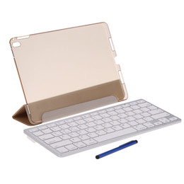 Wholesale Magnetic Films - Wireless Bluetooth Keyboard Folding Foldable Magnetic PU Leather Case Cover Stand Holder Stylus Pen Protective Film for iPad Pro 9.7