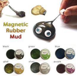 2019 salto de goma New Playdough Slime Magnetic Rubber Mud Plasticine Funny Putty Magneti Clay Jumping Imanes Novedad Antiestrés Toy Slime Toys salto de goma baratos